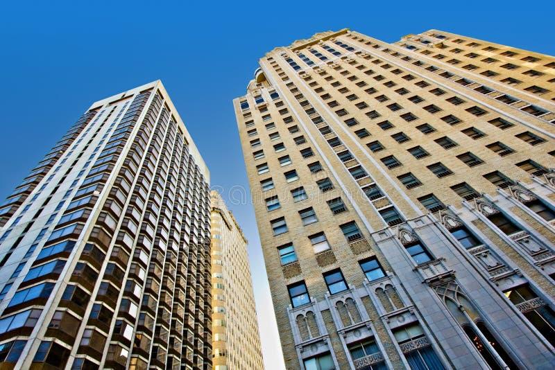 stadsskyskrapor royaltyfri fotografi