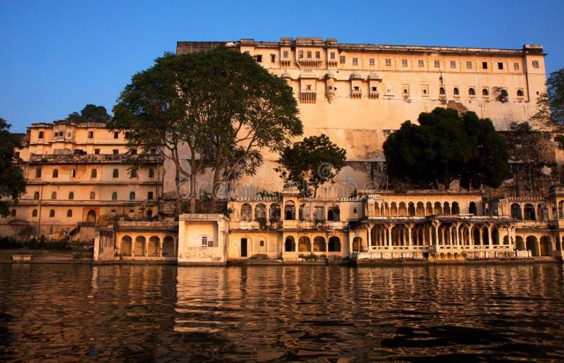 Stadsslott Udaipur royaltyfria bilder