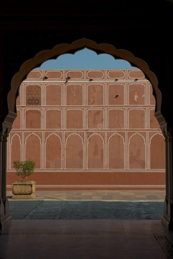 Stadsslottkomplex i Jaipur arkivbilder