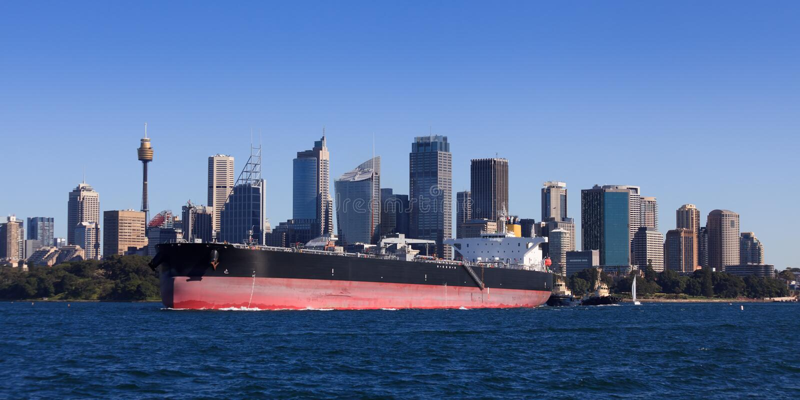 stadssydney tankfartyg arkivfoton