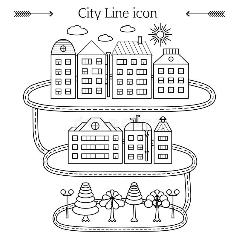 Stadssymbol vektor illustrationer