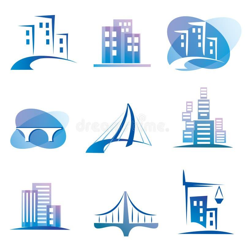 Stadssymboler vektor illustrationer