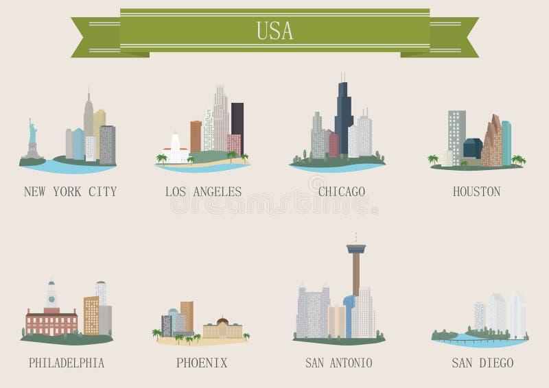 Stadssymbool. De V.S. stock illustratie