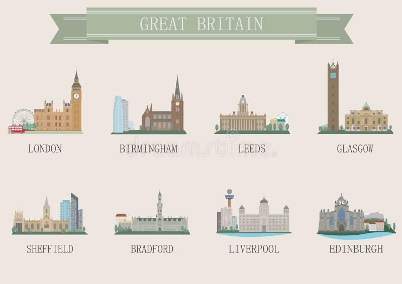Stadssymbool. het UK vector illustratie