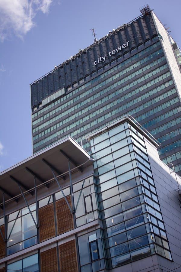 Stadstoren Skysraper De moderne bedrijfsbouw, centraal Manchester royalty-vrije stock afbeeldingen