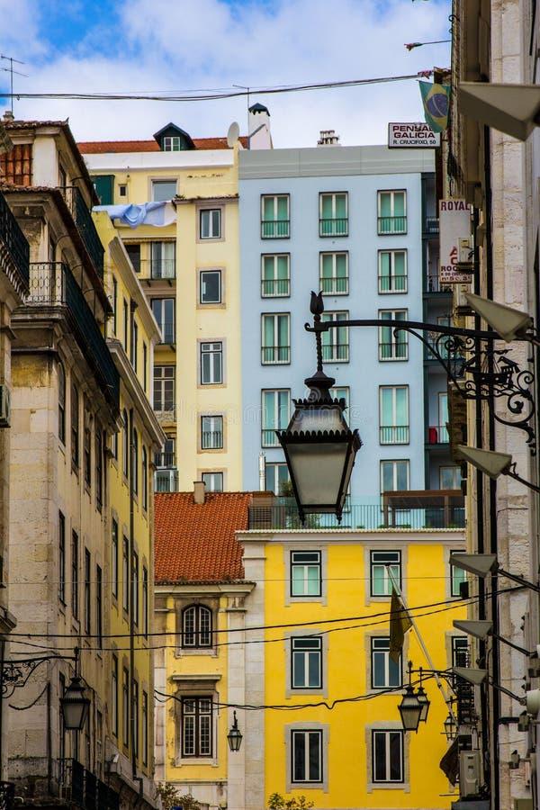 Stadsuppehälle i Lissabon Portugal royaltyfri foto