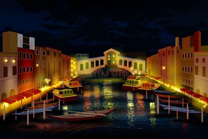 Stadsuteliv av Venedig royaltyfri illustrationer