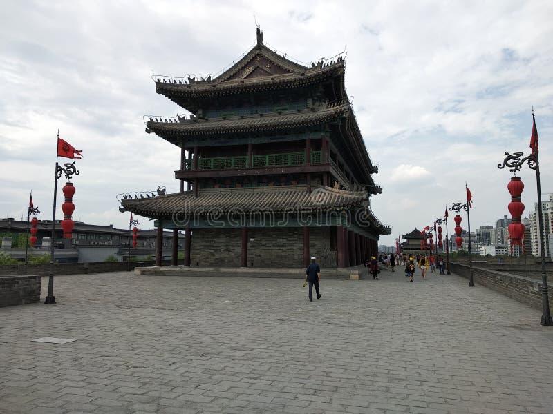 Stadsväggen av XI ' arkivbilder