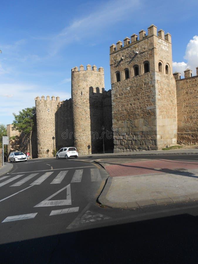 Stadsväggar av Toledo, Spanien arkivfoto