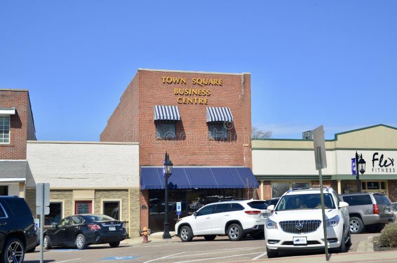 Stadsvierkant, Brownsville, Tennessee stock afbeeldingen