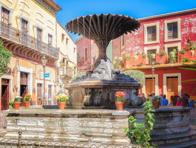 Stadsvierkant, Guanajuato, Mexico stock afbeeldingen