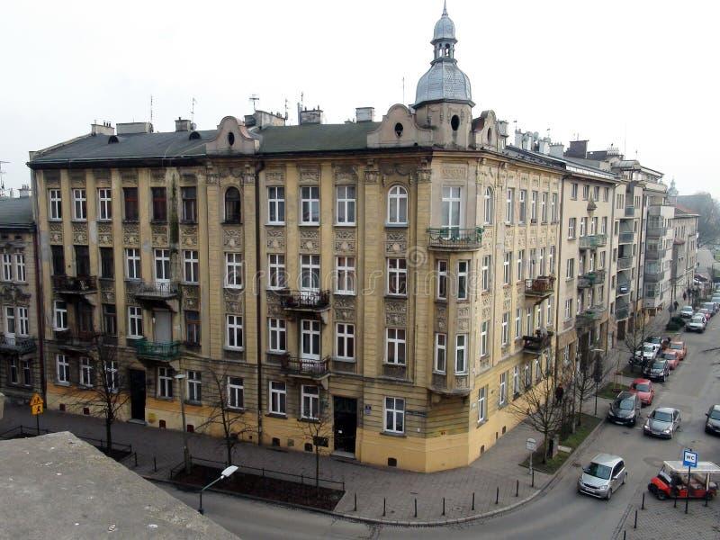 Stadt †‹â€ ‹von Krakau Polen die Landschaft von alten Straßen, von katholischen Kathedralen und von mittelalterlichen Festungen stockbilder