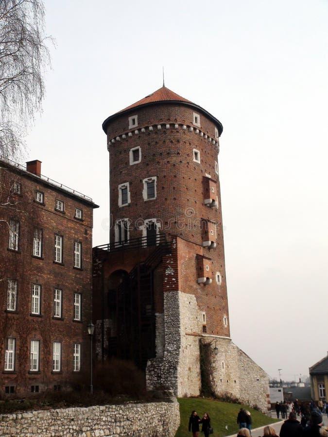 Stadt †‹â€ ‹von Krakau Polen die Landschaft von alten Straßen, von katholischen Kathedralen und von mittelalterlichen Festungen stockfotografie