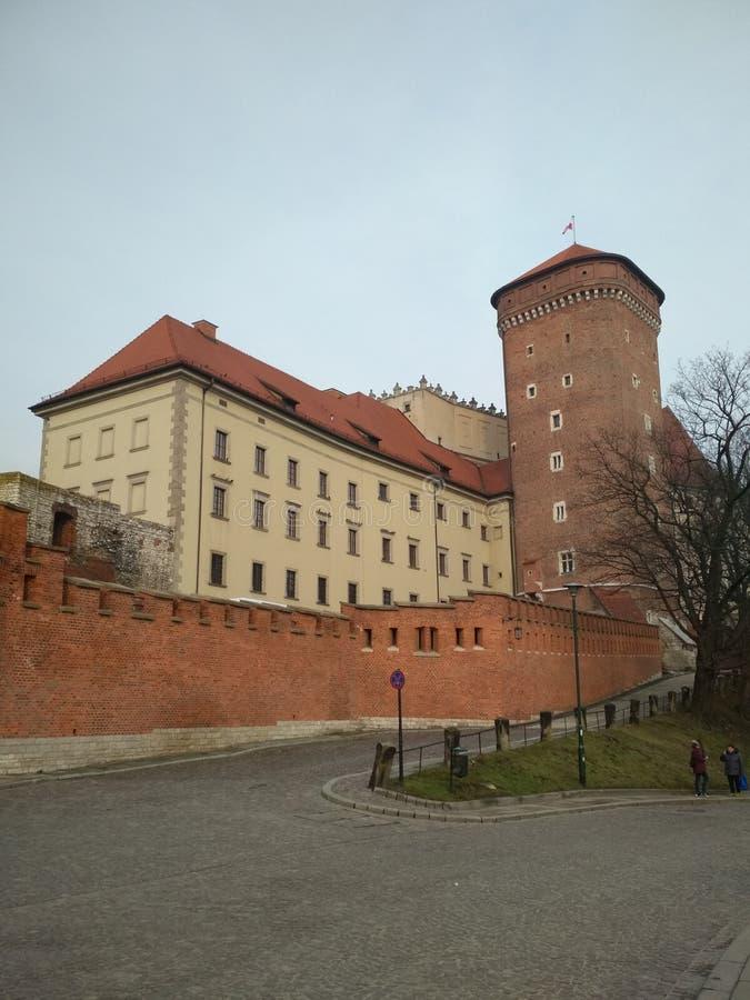 Stadt †‹â€ ‹von Krakau Polen die Landschaft von alten Straßen, von katholischen Kathedralen und von mittelalterlichen Festungen lizenzfreie stockfotos