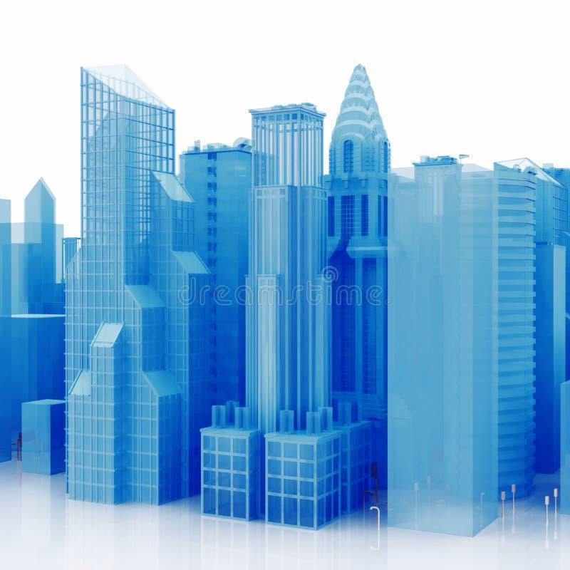 Stadt 3D lizenzfreies stockbild