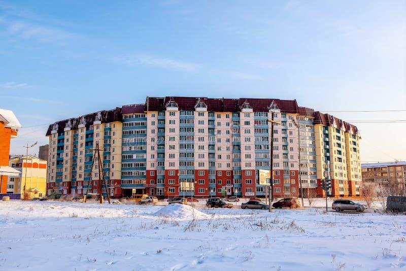 Stadt Angarsk Winter 29 stockfoto