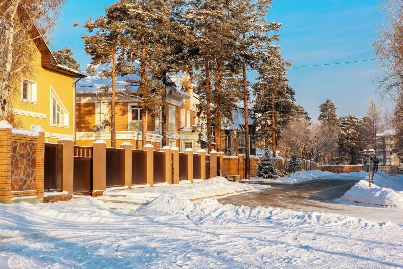Stadt Angarsk Winter 30 lizenzfreie stockfotografie