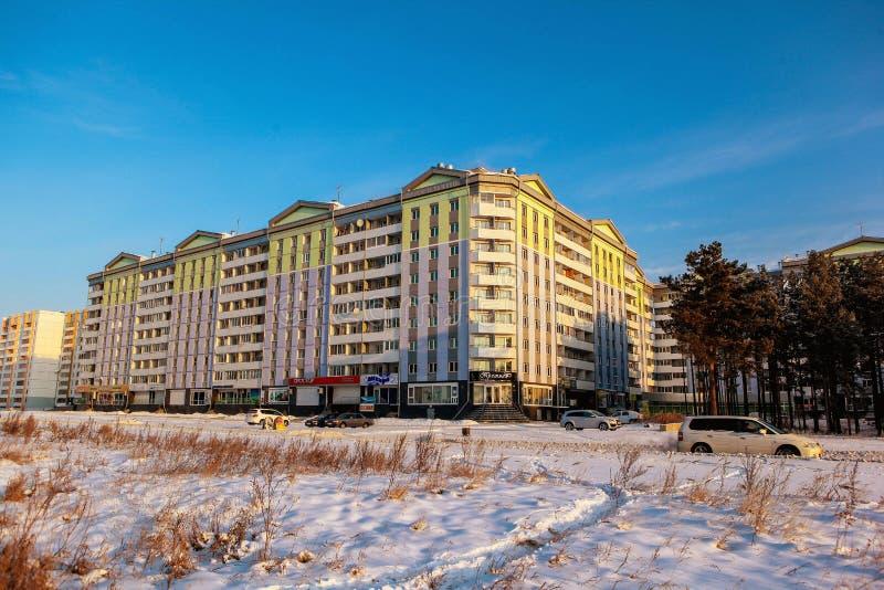 Stadt Angarsk Winter 31 stockfotografie