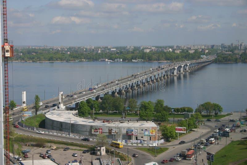 Stadt auf dem DnieperÑŽ stockbild