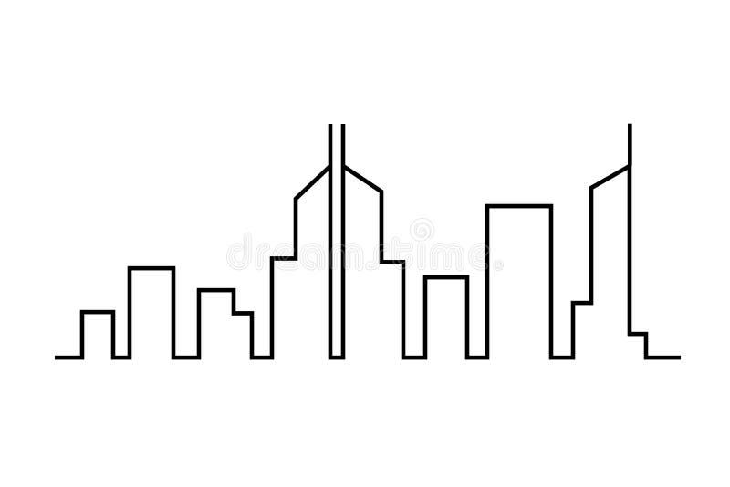 Stadt auf weißem Hintergrund lizenzfreie abbildung