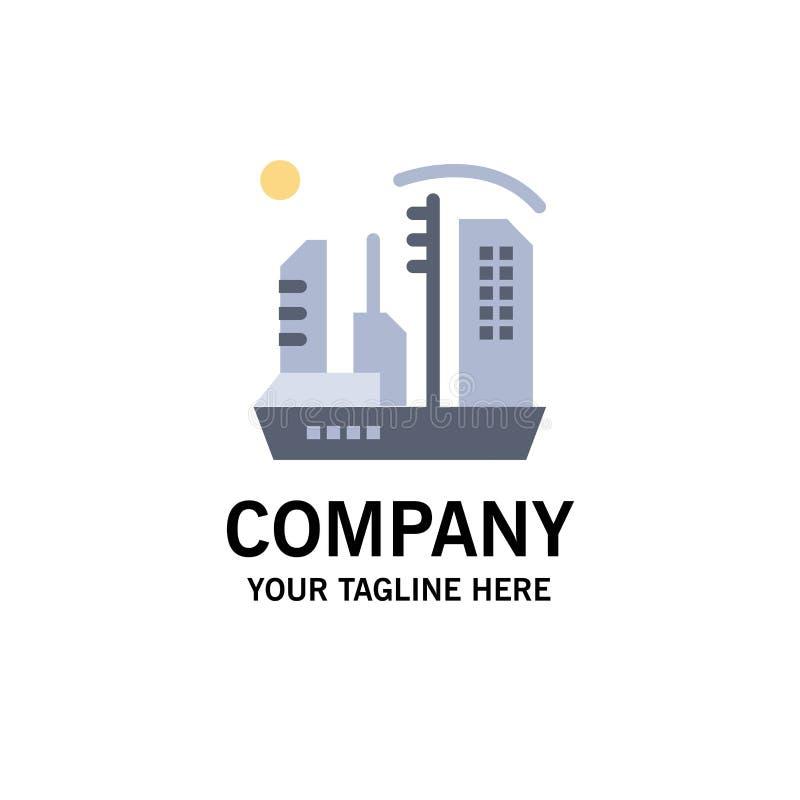Stadt, Besiedlung, Kolonie, Haube, Expansions-Geschäft Logo Template flache Farbe vektor abbildung