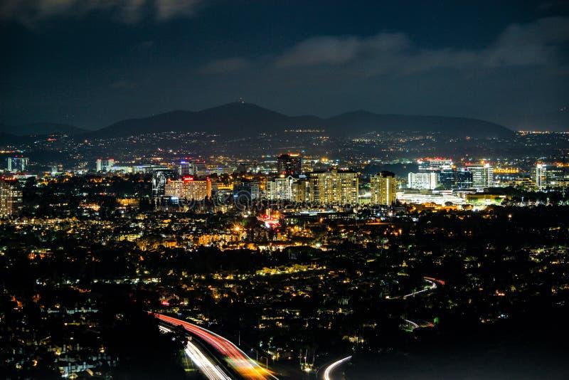 Stadt bis zum Nacht