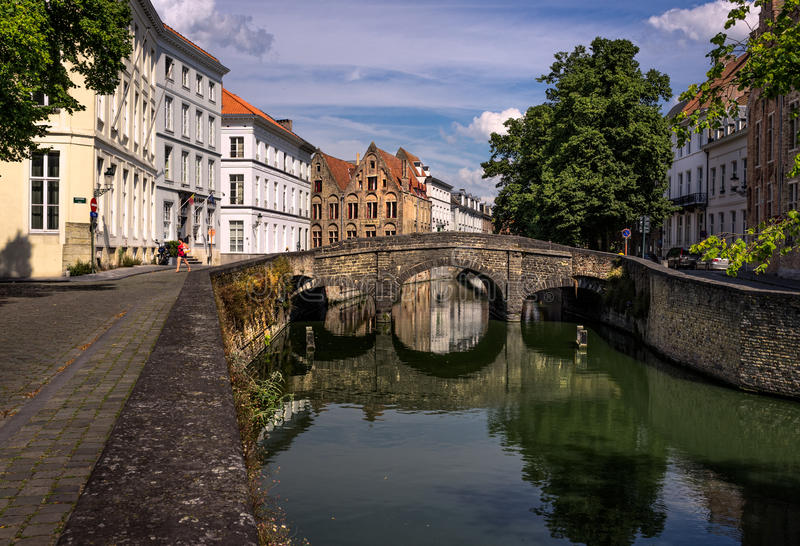 stadt Brücke Brügge lizenzfreies stockfoto