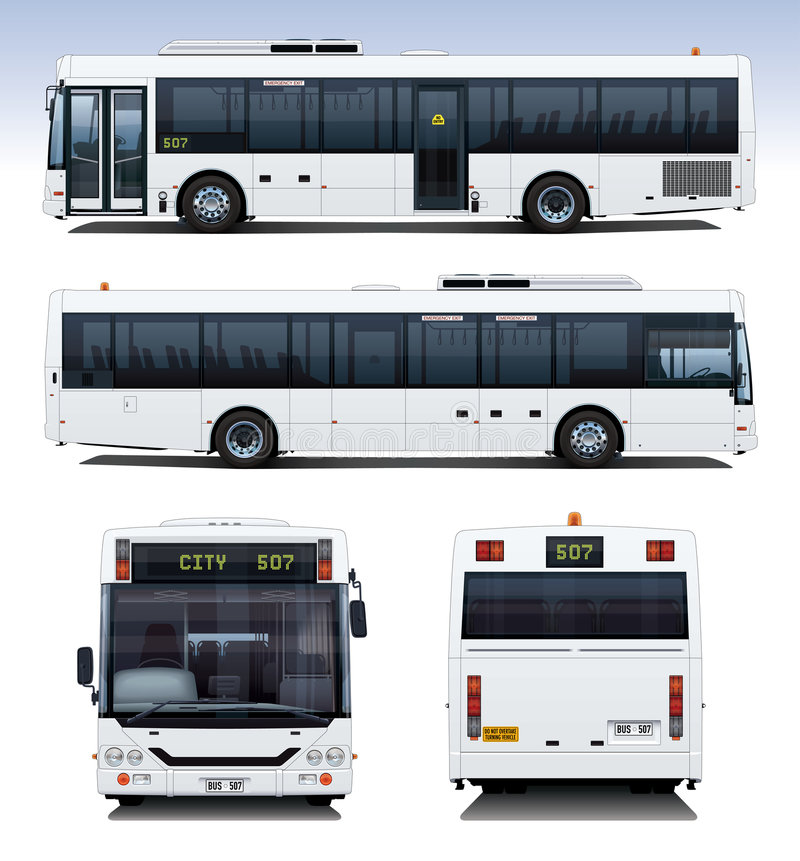 Stadt-Bus vektor abbildung