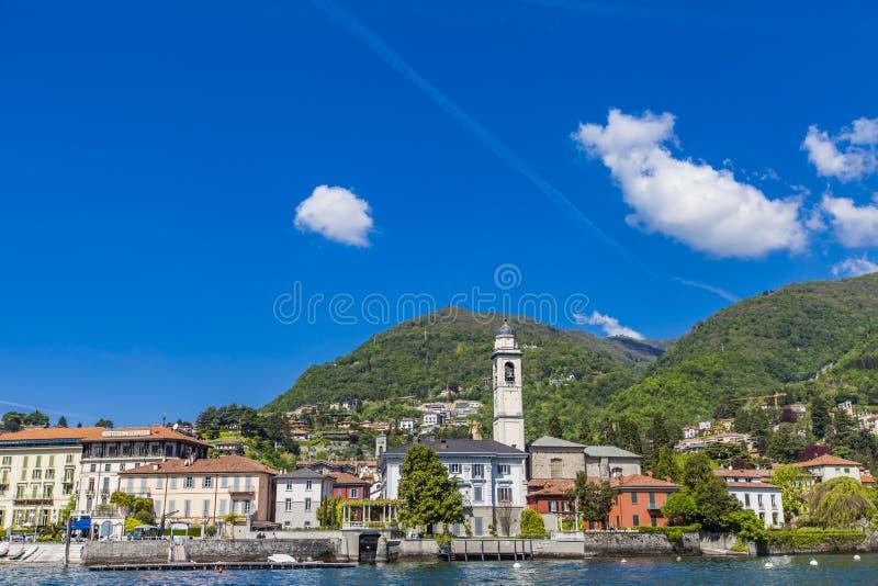 Stadt Cernobbio auf Como See in Italien stockbilder