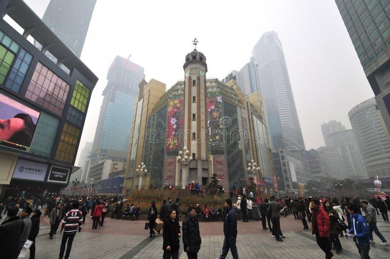 Stadt China-Chongqing, chinesisches neues Jahr lizenzfreie stockfotografie