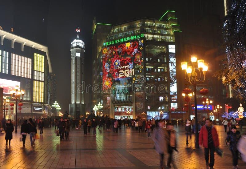 Stadt China-Chongqing, chinesisches neues Jahr lizenzfreie stockbilder