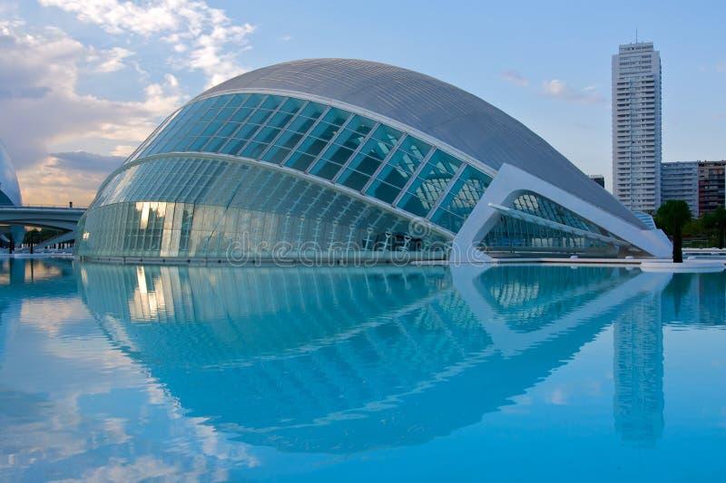 Stadt der Künste und der Wissenschaft, Valencia stockbild