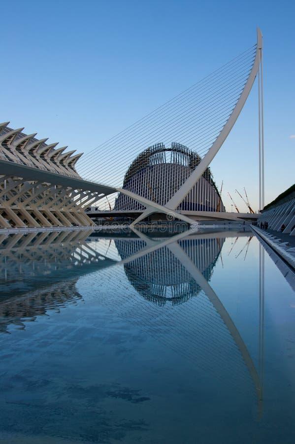 Stadt der Künste und der Wissenschaft, Valencia lizenzfreies stockfoto