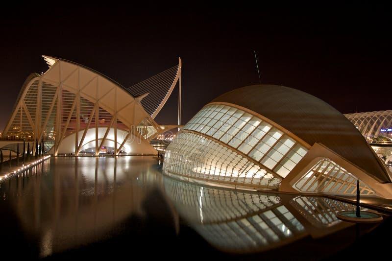 Stadt der Künste und der Wissenschaft, Valencia lizenzfreie stockfotografie