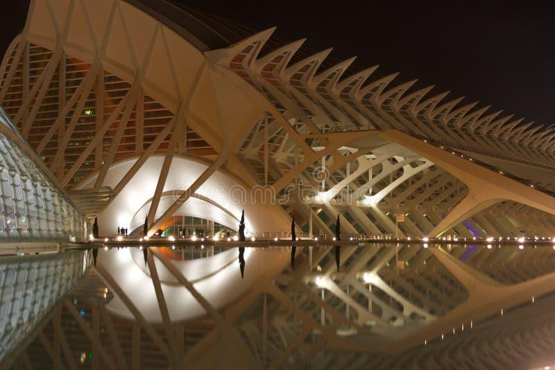 Stadt der Künste und der Wissenschaft, Valencia lizenzfreie stockbilder