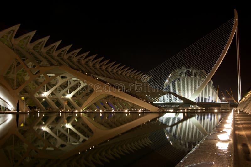 Stadt der Künste und der Wissenschaft, Valencia lizenzfreies stockbild