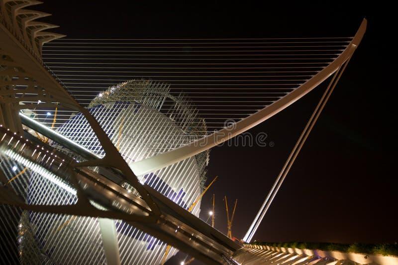 Stadt der Künste und der Wissenschaft, Valencia stockfotos
