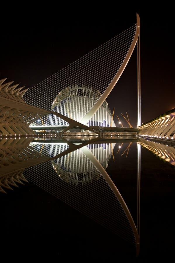 Stadt der Künste und der Wissenschaft, Valencia stockfotografie