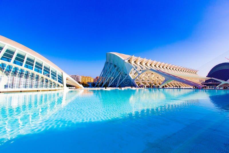 Stadt der Künste und der Wissenschaften Valencia stockbild