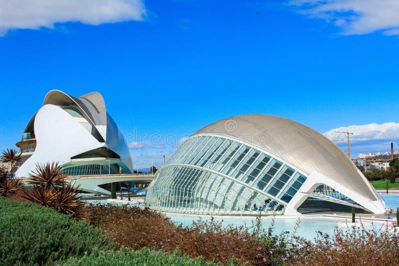 Stadt der Künste und der Wissenschaften, Valencia, Spanien stockbild