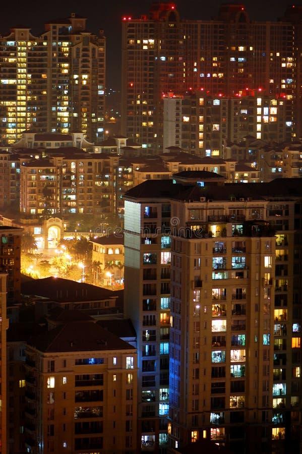 Stadt in der Nacht stockfotografie
