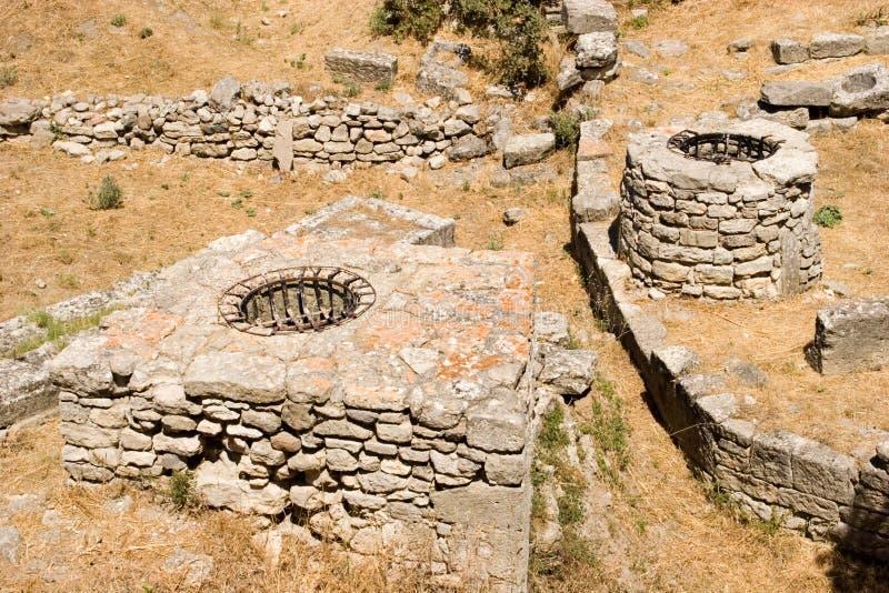 Stadt der Troy-Ruinen lizenzfreie stockfotos
