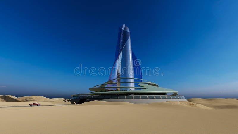 Stadt in der Wüste lizenzfreie abbildung