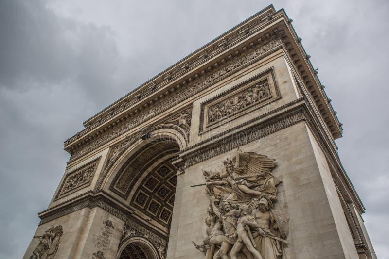 Stadt des Arcs de Triomphe Paris stockbilder