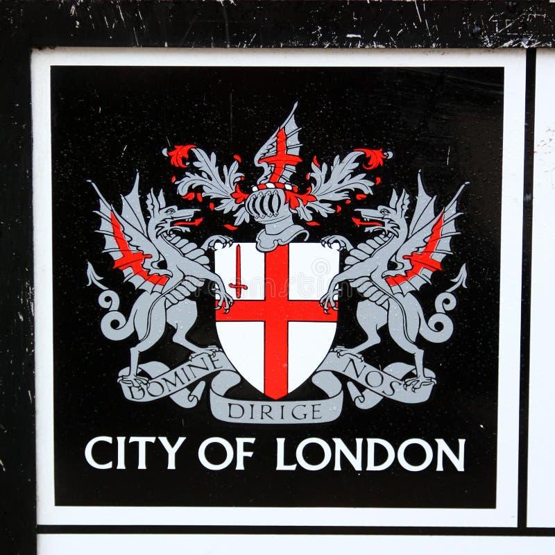 Stadt Des London-Emblems Stockfotografie