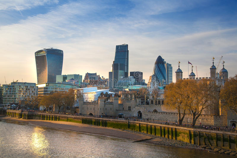 Stadt des London-Panoramas lizenzfreies stockbild