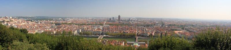Stadt des Lyon-Panoramas lizenzfreies stockfoto