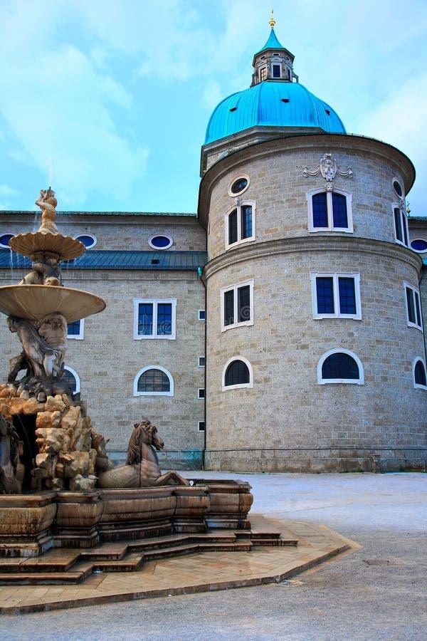 Stadt des Salzburgs, Österreich lizenzfreies stockbild