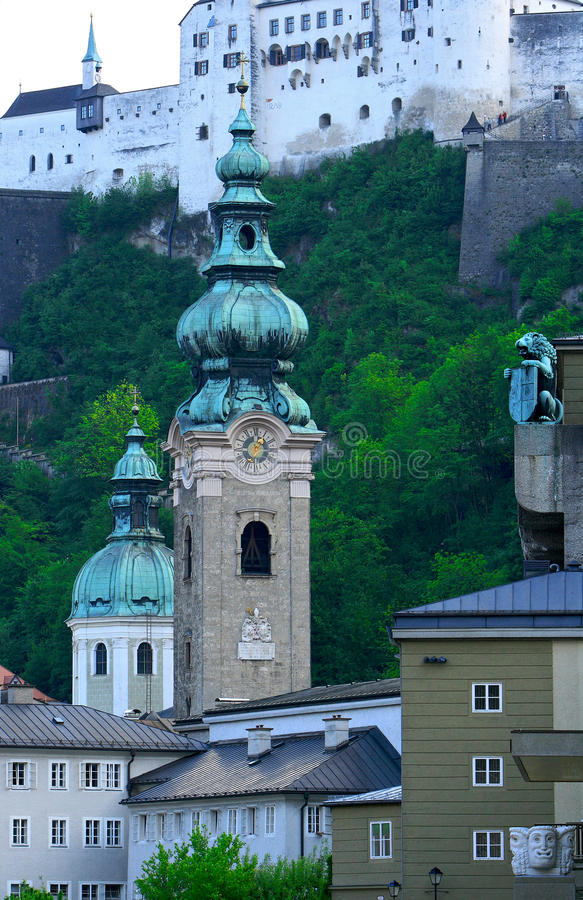 Stadt des Salzburgs, Österreich lizenzfreies stockfoto