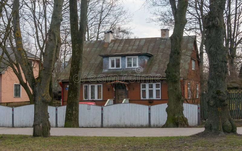 Stadt distric Kopli Estlands Tallin stockfotografie